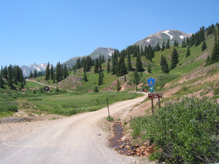 Start of road to Black Bear Pass