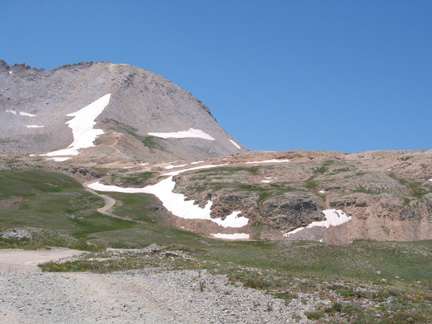 Road to Black Bear Pass from the east
