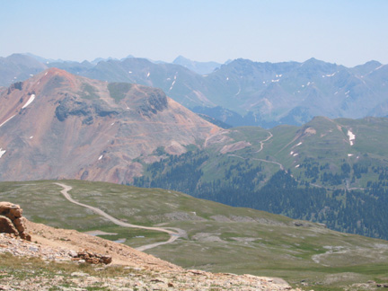 View to the east from Black Bear Pass