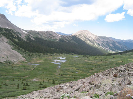 View north from high on Calico Pass ridge