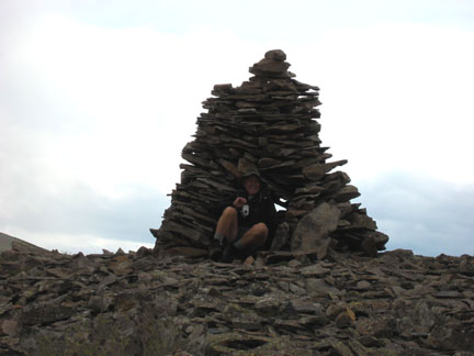 Cairn at American Flats trail junction