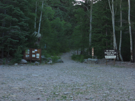 North Crestone trailhead