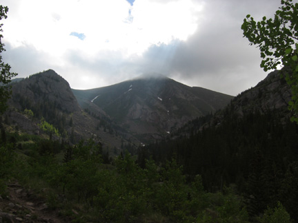 Comanche Pass from North Crestone trail