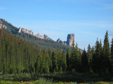 View of Chimney Peak from West Fork Trailhead