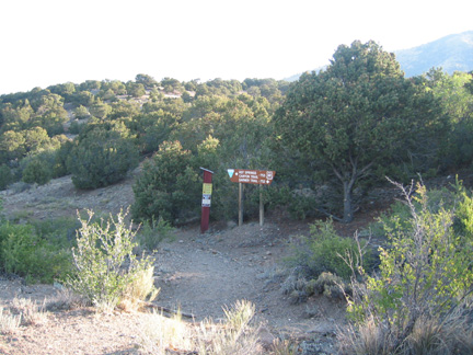 Trailhead for Garner and Hot Springs Canyon trails