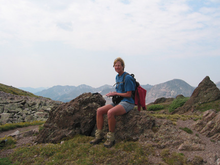 Sallie near Gunsight Pass
