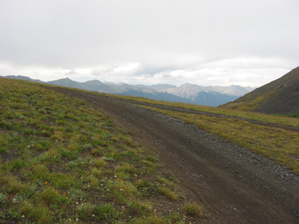 View to the east from Spring Creek Pass