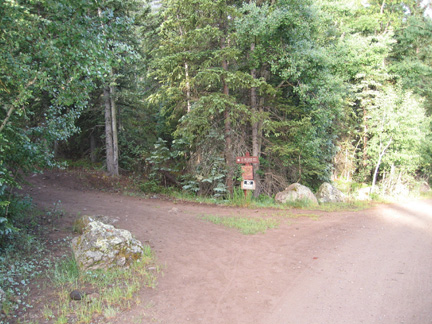 Weminuche Creek trailhead